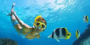 snorkelling in Cuba