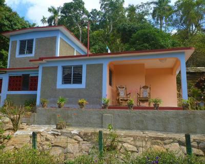 Front Casa Doña Dunia. Soroa. Cuba