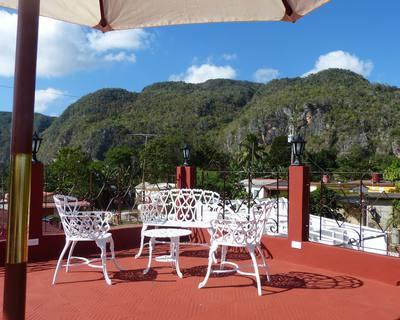 Vista de los mogostes desde el balcon