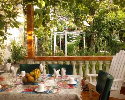 Relax and enjoy a delicious breakfast and dinner in the lovely terrace.