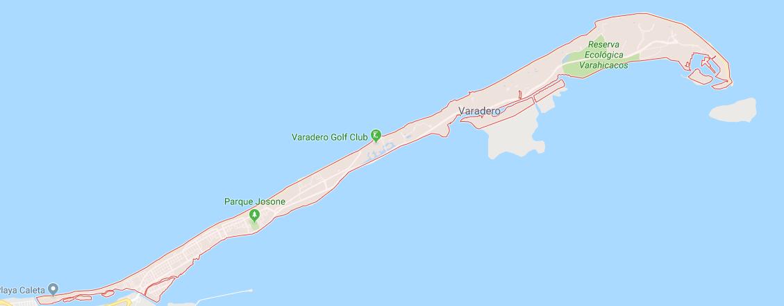 map cuba varadero